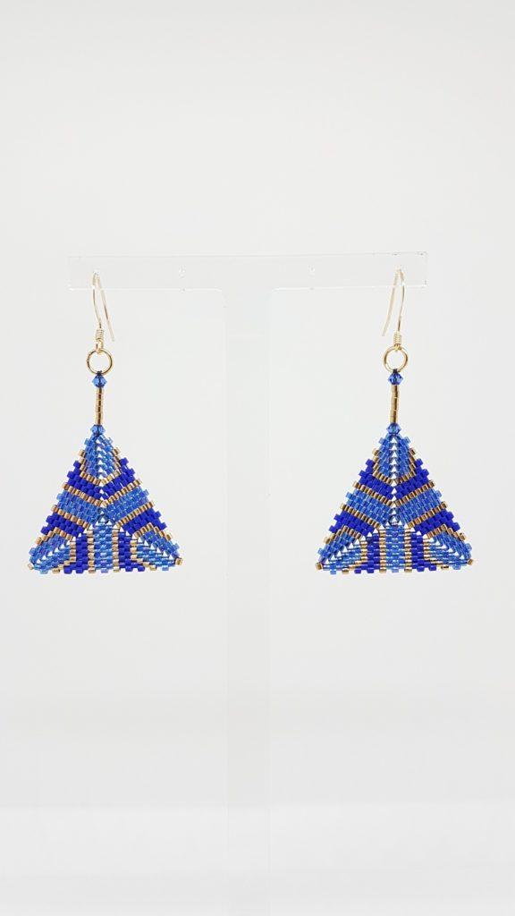 pendentifs en perles Miyuki et cristaux Swarovski