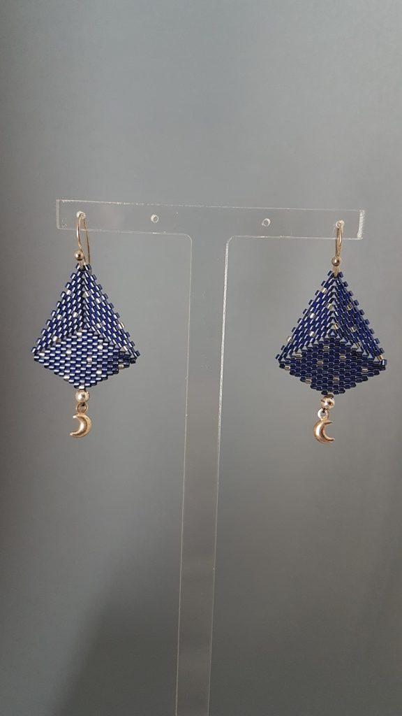 boucles d'oreilles en perles fines Miyuki