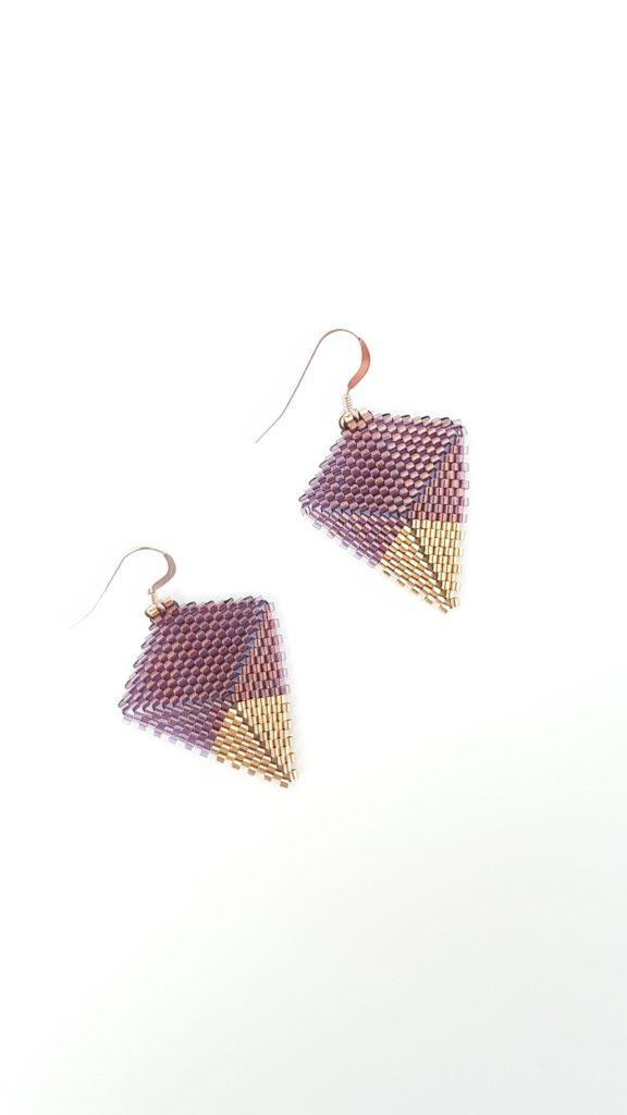 boucles en perles de verre Miyuki