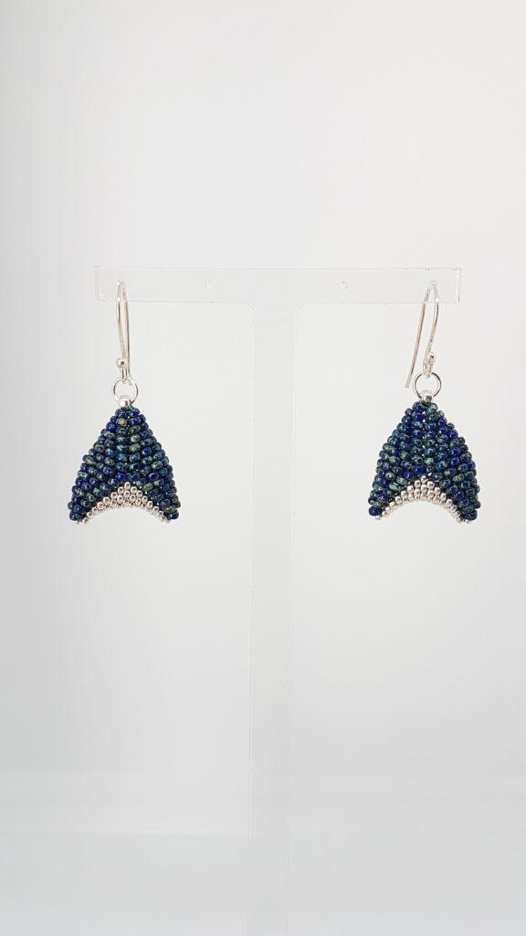 orion en perles bleues et plaquées argent